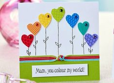 mothers-day-cards papercraft projects- Browse free paper crafting projects split into their individual categories Diy Mother's Day Crafts, Fathers Day Crafts, Mother's Day Diy, Holiday Crafts, Mothering Sunday, Mothers Day Cards, Mother Card, Happy Mothers, Heart Cards