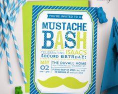 Bigote fiesta primer cumpleaños invitación por PerfectHostess