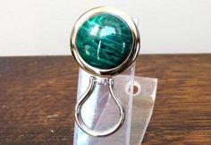 Chrome Magnetic Eyeglass Holder Green by DARLAsTurningTrades