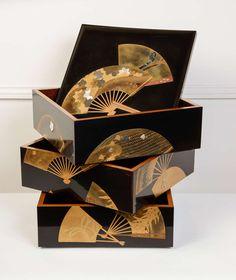 19th Century Japanese Lacquer Fubako-1850 HEIGHT:9.84 in. (25 cm) WIDTH:9.65 in. (25 cm) DEPTH:9.65 in. (25 cm)