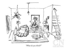 """What do you think?"" - New Yorker Cartoon Poster Print by George Booth at the Condé Nast Collection"