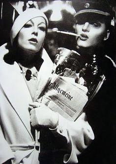 Bob Richardson,Anjelica Huston in Valentino for Vogue Italia, 1972