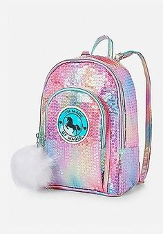 Justice is your one-stop-shop for on-trend styles in tween girls clothing & accessories. Shop our Unicorn Sequin Mini Backpack. Cute Backpacks, Girl Backpacks, Cute Unicorn, Unicorn Party, Backpack Purse, Mini Backpack, Cute Purses, Purses And Bags, Fashion Bags