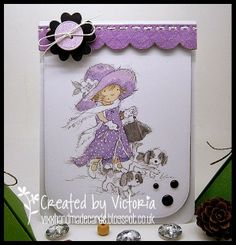 Vixx Handmade Cards: LILI OF THE VALLEY ~ EMMA WALKIES...