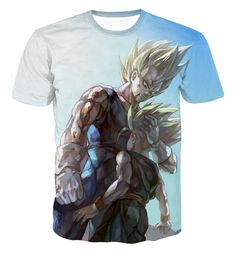Father and Son Bloody Majin Vegeta Super Saiyan Kid Trunks 3D T-shirt    #Father #Son #Bloody #Majin #Vegeta #Super #Saiyan #Kid #Trunks #3D #Tshirt