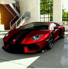 Red and black Ferrari