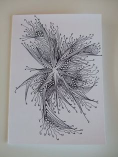 Handcrafted Zentangle, Zendoodle Blank Greeting card by MIMI PINTO PAPER ART, http://www.amazon.co.uk/dp/B00A6K4WX0/ref=cm_sw_r_pi_dp_nU6Trb06F1CJM