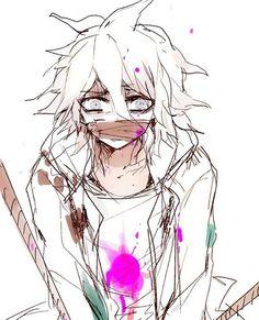 Dark anime boy Guro Danganronpa- Komaeda Nagito