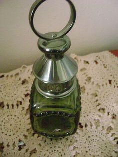 Vintage Avon Green Lantern  Tai Winds 5 oz  After Shave Bottle No Box Decorative