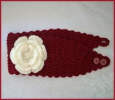 Free Crochet Valentine Romance Headband pattern..