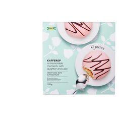 KAFFEREP Konfekt Punschrolle - IKEA Deutschland Marzipan, Swedish Traditions, Pause Café, Ikea Inspiration, Custard Filling, Almond Paste, Swedish Style, Vanilla Custard, Sour Cream