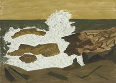Milton Avery (American, 1885-1965),Wave, 1945. Watercolor on paper, 22 x 31 in.