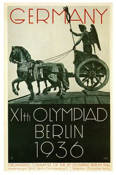 Poster for the XI Olympic Games in Berlin 1936 Olympics, Berlin Olympics, Summer Olympics, Ww2 Posters, Poster Ads, Sports Posters, World History, World War Ii, Nazi Propaganda