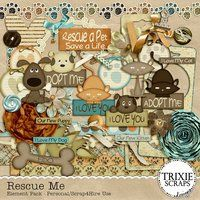 Rescue Me Digital Scrapbooking Kit Animal Dogs Cats Puppy Kitten