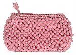 Vintage 1950s Pink Beaded Clutch $40