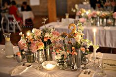 Lacuna wedding - there are so many vases! It looks beautiful, but that adds up.