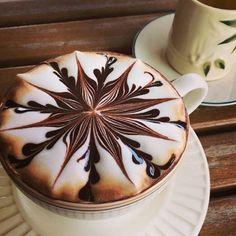 Arte en una tasa de café.