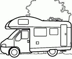 Truck In House - Truck car coloring pages