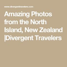 Amazing Photos from the North Island, New Zealand |Divergent Travelers
