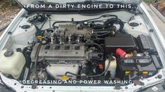 From a dirty engine. Degreasing and power washing works best. Phone Photography, Engineering, Technology