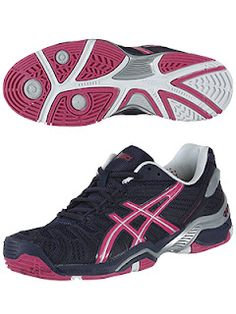 Asics Women's Gel Resolution 4- $120 // glad they moved away from black soles (although i liked them); i was asked not to play in the black-soled ones on indoor courts!