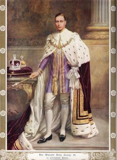 King George VI in Coronation Robes