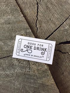 Wedding Drink Tickets Redeem For A Coupon Party Bar Wooden Nickel