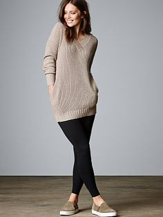 9f48650d24 Ribbed+Double-V+Tunic Big Comfy Sweaters