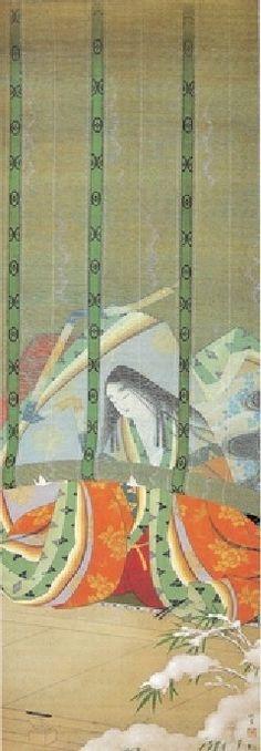上村松園 - 雪 by Uemura Shoen (1875-1949), Japanese art  | #japan #japanese_lifestyle #japanese_art