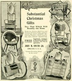 1897 Ad John M Smyth Christmas Gifts Antique Household Furniture