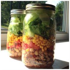 Salad in a Jar Mason