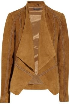 Vince | Draped suede jacket | NET-A-PORTER.COM - StyleSays