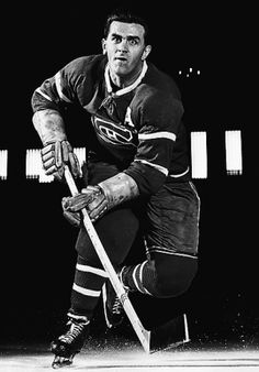 A terror on ice: The Rocket - Maurice Richard of the Montreal Canadiens Maurice Richard, Montreal Canadiens, Hockey Pictures, Ice Hockey Teams, Hockey Stuff, Hockey Mom, Canadian History, Hockey Cards, Sports Figures