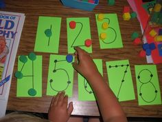 Pre K math ideas This is a good use for the little pom poms!