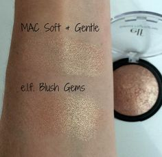 MAC Soft and Gentle dupe! e.l.f Blush Gems Baked Highlighter