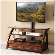 "50"" Mounted Wood TV Stand at Big Lots."