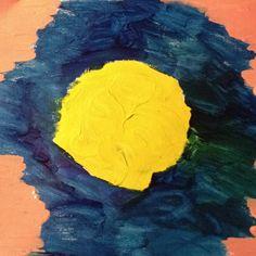 Random flower. Acrylic