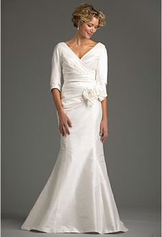 """Montclair Bridal Gown 44"""" - Mother of the Bride Gowns - Siri Inc  I think this is the material she said my material was. check out the site."""