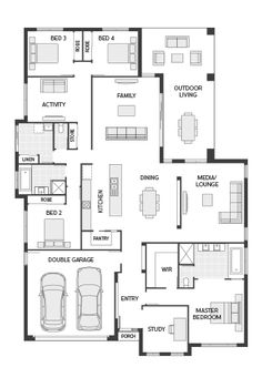 Coral Homes :: The Marcoola Series features Source by we hate news more than you do. Luxury House Plans, Dream House Plans, House Floor Plans, Floor Design, House Design, House Plans Australia, Architectural House Plans, Floor Layout, New Home Designs