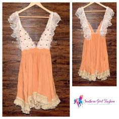"""MY SUNDAY FEELING Dress Ruffle Swing Festival Boho One Size. Excellent condition.  $220 Retail + Tax.   - Each """"My Sunday Feeling"""" dress is unique and one of a kind. - Elastic ruffled lace straps, fringe hem & floral embellished crochet bodice detailing.   Tiny pinholes on bodice band.  See 4th photo.*   ❗️ No trades or holds.    Bundle 2+ items for a 20% discount!    Stop by my closet for even more items from this brand!  ✔️ Items are priced to sell, however reasonable offers will be…"""