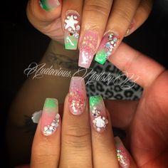 Mermaid  acrylic nails follow on Instagram @audacious.nailsbyb
