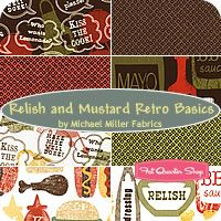 relish and mustard retro basics - cute for potholders and aprons!