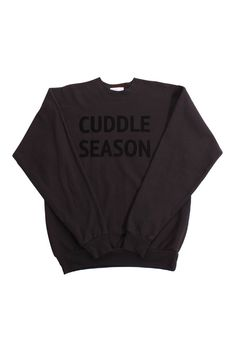 Cuddle Season Sweatshirt (Black) http://shop.nylon.com/collections/whats-new/products/cuddle-season-sweatshirt-black #NYLONshop