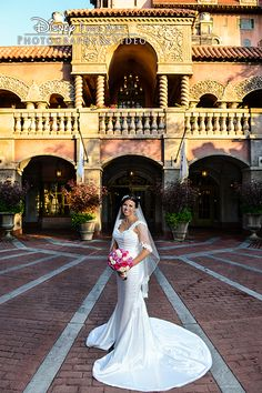 Checking in? The Twilight Zone Tower of Terror provided a perfect backdrop for this  Disney bride.