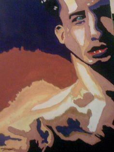 Hades #1  Acrylic on Canvas  Work in Progress