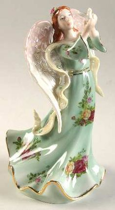 Musical Figurine in the Old Country Roses pattern by Royal Albert China