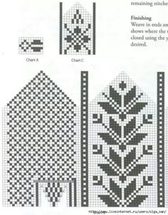 Selbuvotter - Biography of a Knitting Tradition (book) - Monika Romanoff - Picasa Web Albums Knitting Charts, Knitting Stitches, Knitting Patterns Free, Knitted Mittens Pattern, Knitting Socks, Crochet Chart, Filet Crochet, Clothes Crafts, Mittens