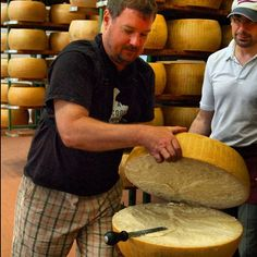 At a Parmigiano producer in Parma - Instagram by @acooknotmad