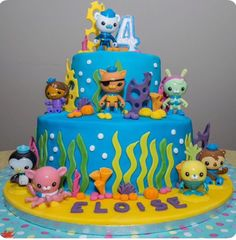 Sound the Octo-Alert! Your little Octonauts fan will go crazy for this spectacular underwater cake.