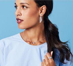 Pandora earrings, rings, pendant